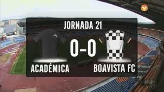 I Liga (21ªJ): Resumo A. Académica 0-0 Boavista FC