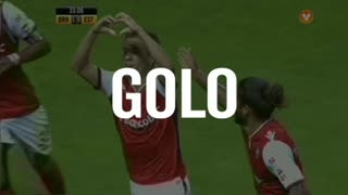 Sp. Braga, Pedro Santos aos 34', Sp. Braga 1-0 Estoril