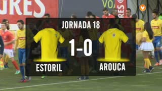 Liga (18ª J): Resumo Estoril 1-0 Arouca