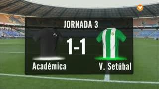 I Liga (3ªJ): Resumo A. Académica 1-1 Vitória FC