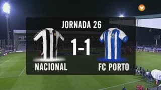 I Liga (26ªJ): Resumo CD Nacional 1-1 FC Porto