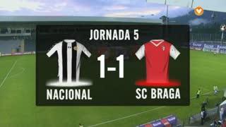 I Liga (5ªJ): Resumo CD Nacional 1-1 SC Braga