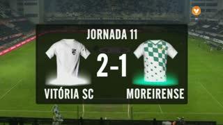 I Liga (11ªJ): Resumo Vitória SC 2-1 Moreirense FC