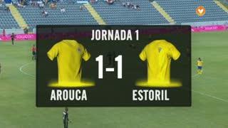 I Liga (1ªJ): Resumo FC Arouca 1-1 Estoril Praia