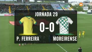 I Liga (29ªJ): Resumo FC P.Ferreira 0-0 Moreirense FC