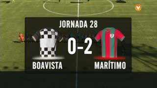 I Liga (28ªJ): Resumo Boavista FC 0-2 Marítimo M.