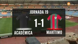 I Liga (19ªJ): Resumo A. Académica 1-1 Marítimo M.