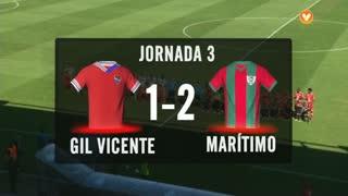 I Liga (3ªJ): Resumo Gil Vicente FC 1-2 Marítimo M.