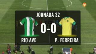 I Liga (32ªJ): Resumo Rio Ave FC 0-0 FC P.Ferreira