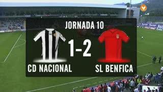 I Liga (10ªJ): Resumo CD Nacional 1-2 SL Benfica