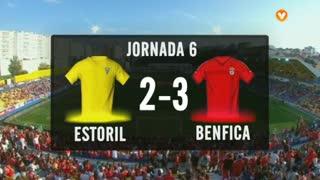 I Liga (6ªJ): Resumo Estoril Praia 2-3 SL Benfica