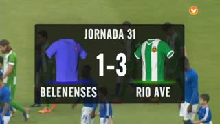 I Liga (31ªJ): Resumo Belenenses 1-3 Rio Ave FC