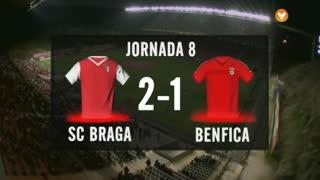 I Liga (8ªJ): Resumo SC Braga 2-1 SL Benfica