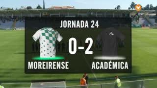 I Liga (24ªJ): Resumo Moreirense FC 0-2 A. Académica