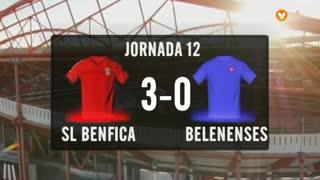 I Liga (12ªJ): Resumo SL Benfica 3-0 Belenenses