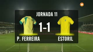 I Liga (11ªJ): Resumo FC P.Ferreira 1-1 Estoril Praia