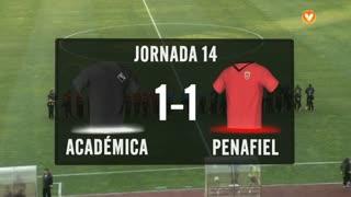 I Liga (14ªJ): Resumo A. Académica 1-1 FC Penafiel