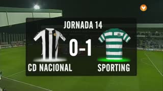 I Liga (14ªJ): Resumo CD Nacional 0-1 Sporting CP