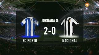 I Liga (9ªJ): Resumo FC Porto 2-0 CD Nacional