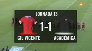 I Liga (13ªJ): Resumo Gil Vicente FC 1-1 A. Académica