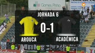 I Liga (6ªJ): Resumo FC Arouca 0-1 A. Académica