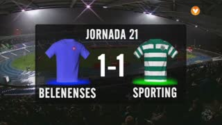 I Liga (21ªJ): Resumo Os Belenenses 1-1 Sporting CP