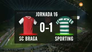I Liga (16ªJ): Resumo SC Braga 0-1 Sporting CP