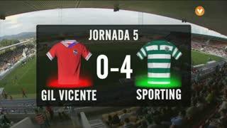 I Liga (5ªJ): Resumo Gil Vicente FC 0-4 Sporting CP