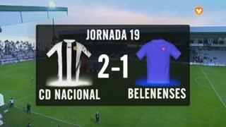 I Liga (19ªJ): Resumo CD Nacional 2-1 Belenenses