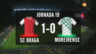I Liga (19ªJ): Resumo SC Braga 1-0 Moreirense FC