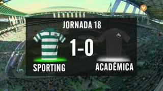 I Liga (18ªJ): Resumo Sporting CP 1-0 A. Académica