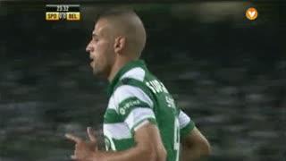Sporting CP, Jogada, Slimani aos 24'