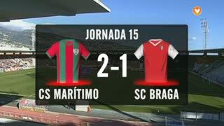 I Liga (15ªJ): Resumo Marítimo M. 2-1 SC Braga