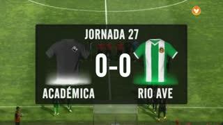 I Liga (27ªJ): Resumo A. Académica 0-0 Rio Ave FC