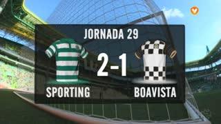 I Liga (29ªJ): Resumo Sporting CP 2-1 Boavista FC