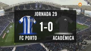 I Liga (29ªJ): Resumo FC Porto 1-0 A. Académica