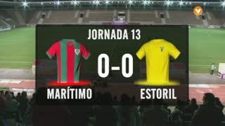 I Liga (13ªJ): Resumo Marítimo M. 0-0 Estoril Praia