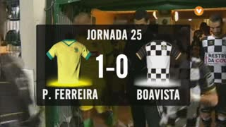 I Liga (25ªJ): Resumo FC P.Ferreira 1-0 Boavista FC