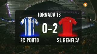 I Liga (13ªJ): Resumo FC Porto 0-2 SL Benfica