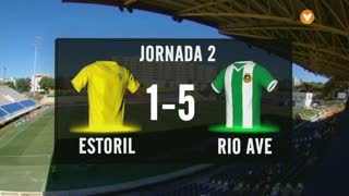 I Liga (2ªJ): Resumo Estoril Praia 1-5 Rio Ave FC