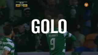 GOLO! Sporting CP, Slimani aos 57', Sporting CP 2-0 Estoril Praia