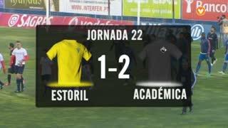 I Liga (22ªJ): Resumo Estoril Praia 1-2 A. Académica