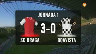 I Liga (1ªJ): Resumo SC Braga 3-0 Boavista FC