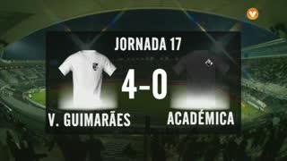 I Liga (17ªJ): Resumo Vitória SC 4-0 A. Académica
