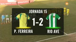 I Liga (15ªJ): Resumo FC P.Ferreira 1-2 Rio Ave FC