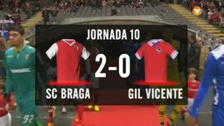 I Liga (10ªJ): Resumo SC Braga 2-0 Gil Vicente FC