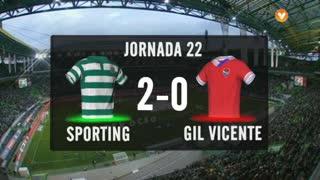 I Liga (22ªJ): Resumo Sporting CP 2-0 Gil Vicente FC