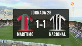I Liga (29ªJ): Resumo Marítimo M. 1-1 CD Nacional