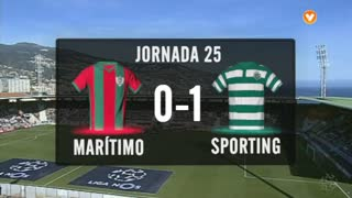 I Liga (25ªJ): Resumo Marítimo M. 0-1 Sporting CP