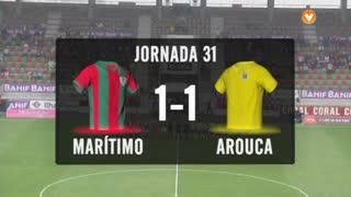 I Liga (31ªJ): Resumo Marítimo M. 1-1 FC Arouca